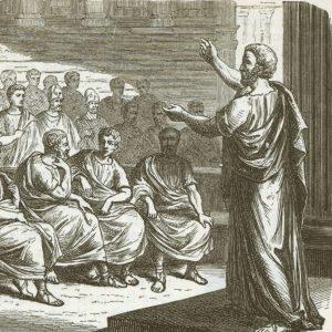 Демосфен оратор, картинка