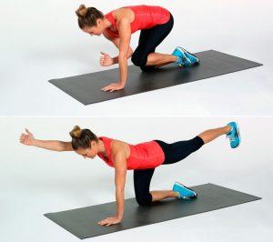 упражнения для спины женщинам в домашних условиях, птица, фото