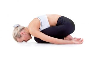 baby pose, exercises for the muscles of the lower back, photo