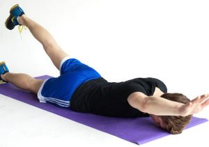 exercise for the muscles of the lumbar, boat, picture