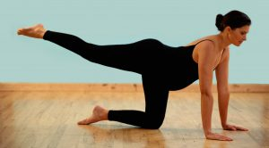 stretching exercise for lumbar on all fours, picture