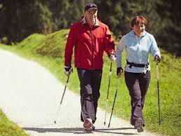 скандинавская ходьба при артрозе, картинка