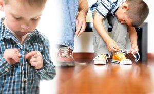 как научить ребенка завязывать шнурки, картинка