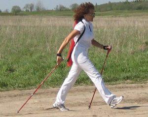 шведская ходьба с палками что это такое, картинка