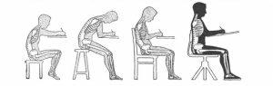 как сидеть на стуле правильно, картинки