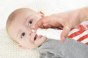 как промывать нос солевым раствором ребенку, картинка