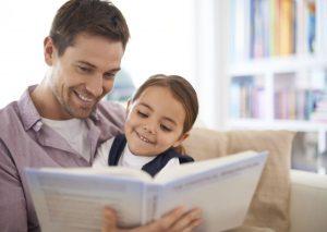 читать ребенку книгу, вслух, картинка