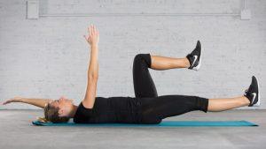 упражнение жук на спине, картинка